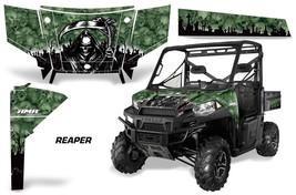 UTV Graphics Kit SxS Decal Wrap For Polaris Ranger 570 900 2013-2015 REAPER GRN - $395.95