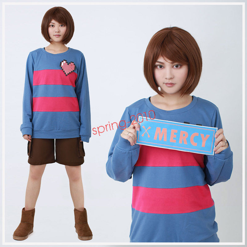 Primary image for Game Undertale Protagonist Frisk Hoodie Cosplay Costume
