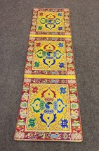 Tibetan Yellow silk brocade Double Dorji table runner shrine/altar/cover... - $21.00