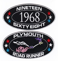 1968 PLYMOUTH ROADRUNNER SEW/IRON ON PATCH EMBLEM BADGE EMBROIDERED MOPA... - $12.50