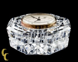 Waterford Crystal Octogon Quartz Mantle Clock Nice - $62.34