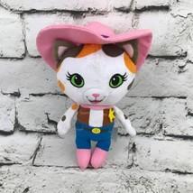 Disney Sheriff Callies Wild West Plush Pink Cowgirl Cat Stuffed Animal S... - $9.89