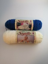 Caron - Dawn Sayelle / 2 Skeins: 1 Each Of L API S & White (3.5oz X 2) - $8.99