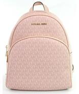 Michael Kors Abbey Monogrammed PVC Medium Backpack Ballet Pink RRP £310 - $375.77
