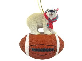 Bear Polar Football Ornament - $17.99