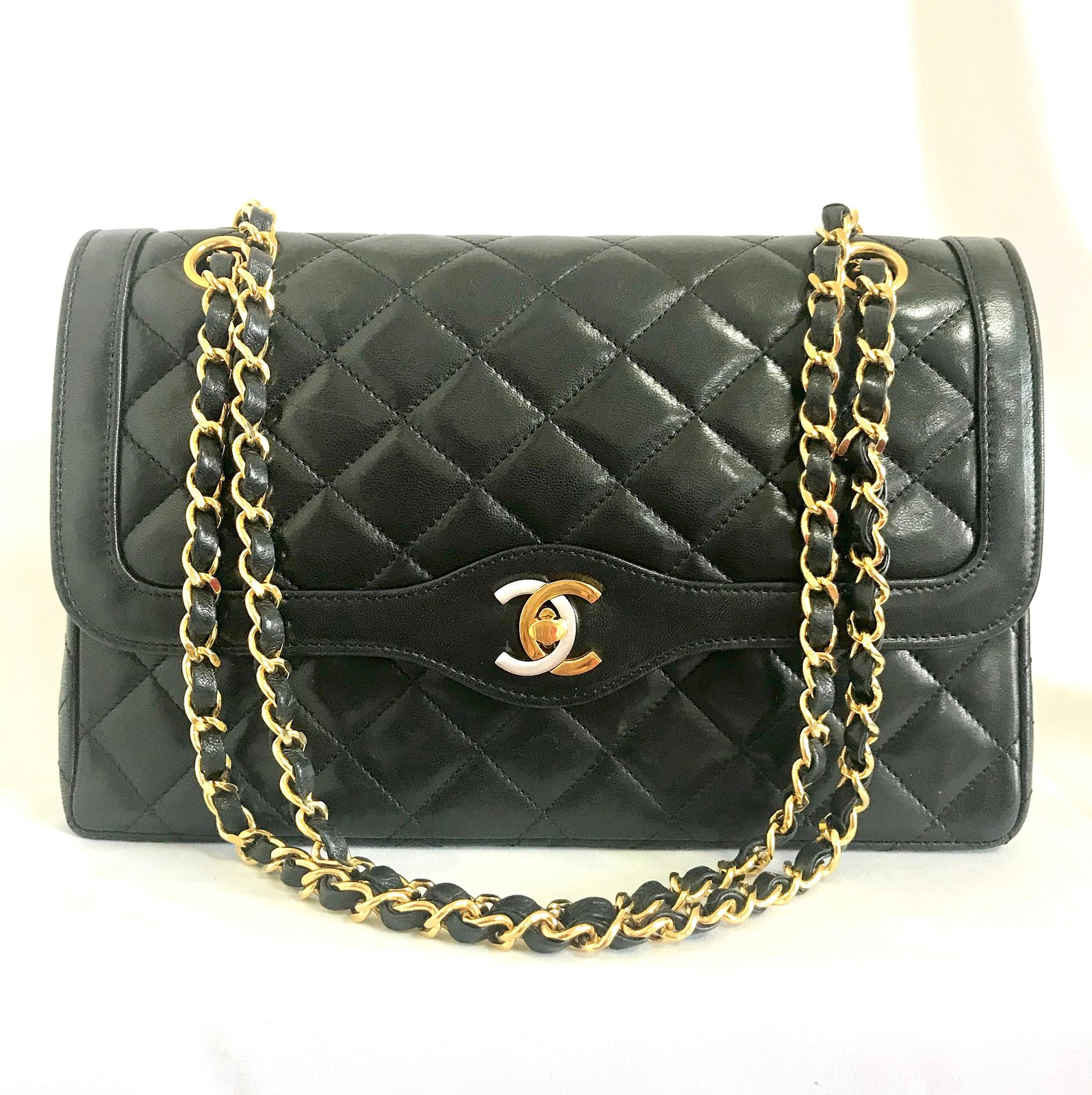 4d93a0147fd5 Il fullxfull.1526958457 6fs8. Il fullxfull.1526958457 6fs8. Previous. Vintage  Chanel black 2.55 classic double flap bag ...