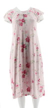 Carole Hochman Ultra Jersey Blooming Meadow Lace Long Gown Pink 2X NEW A... - $28.69