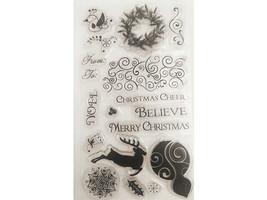 Elegant Christmas Clear Stamp Set