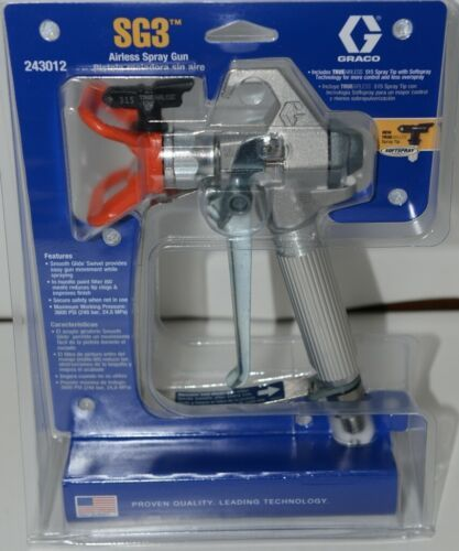 GRACO 243012 SG3 Airless Spray Gun with TRUEAIRLESS 515 Spray Tip