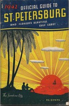 1942 Official Guide St Petersburg Florida Gulf Coast Pics Ads Info 88 Pg... - $24.74