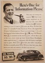 1940 Print Ad New De Soto 2-Door Cars Chrysler Corporation - $16.81