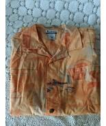 River Lodge Colombia Men's Button Front Orange Fishing Shirt Size XL - $17.45