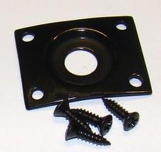 Replacement Jack Plate & Screws for Les Paul® & Similar Guitars - Black ... - $8.95
