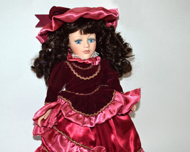 "Collectors Choice by DanDee Porcelain Doll 16"" - vintage retro collectib... - $20.00"
