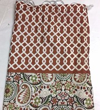 WAVERLY Shower CURTAIN Fabric Standard PAISLEY & Interlocking Lattice Top - $23.33
