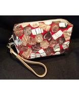 Clutch Bag/Wristlet/Makeup Bag - Chocolate candies on red - $29.95