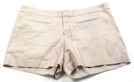 Gap Womens Sz 12 Tall Solid Brown Soft 100% Cotton Mini Shorts EUC Faux Pockets - $12.19