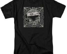 CBGB Retro 70's Punk Rock Bar NY City graphic black cotton T-shirt CBGB105 image 2