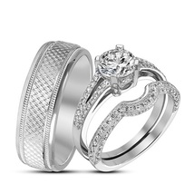 D engagement ring and wedding band. center sold separately. stock er7016 924x784 169.99 thumb200
