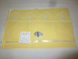 NOS Vintage BESS MADE 8-Pc. 100% Rayon PLACEMAT SET - Yellow - $7.92