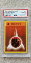 Pokemon Fighting Energy 97/102 Shadowless Base Set PSA 10 1999 Pokemon T... - $27.99