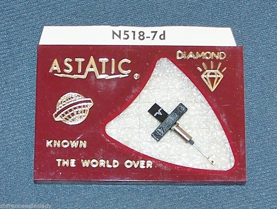PHILIPS NORELCO GP204 GP-204 replacement Astatic N518-7d PHONOGRAPH NEEDLE
