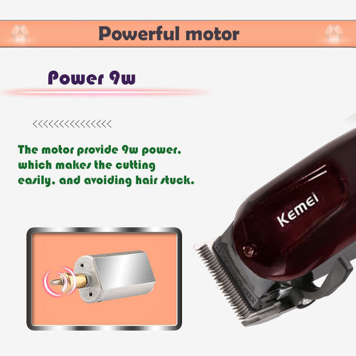 ... Professional Rechargeable Electric Hair Clipper Cordless 100-240V Kemei KM-2600 ...