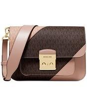 Michael Kors Sloan Editor Tricolor Signature Shoulder Bag (Brown/Fawn) - $309.01