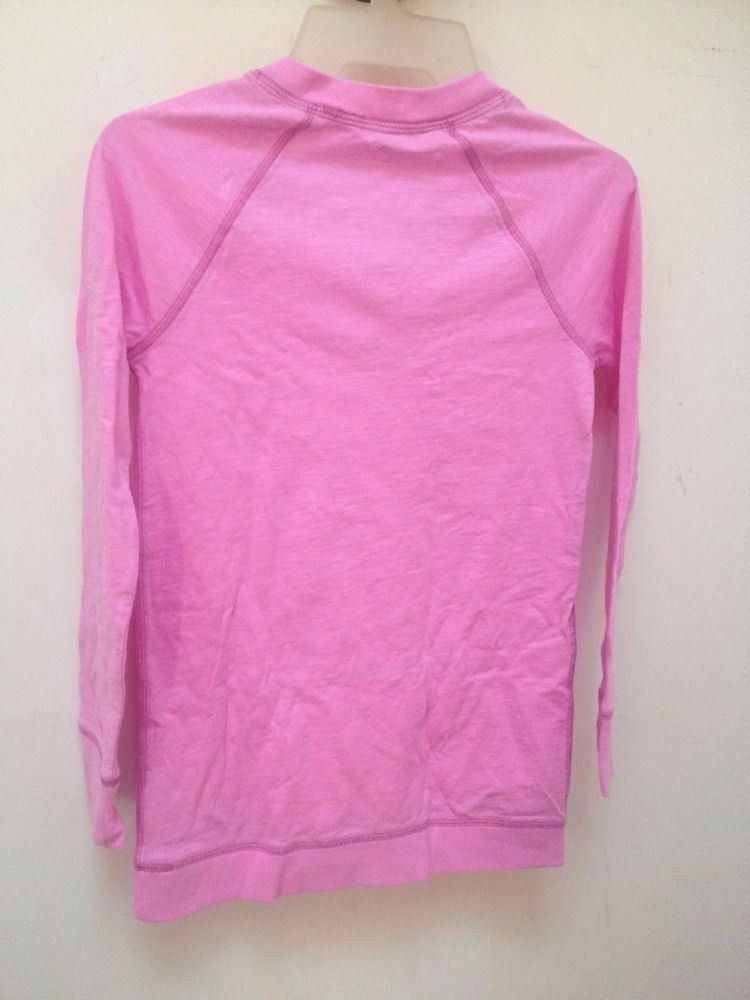 Gap Kids L 10 Top Pink Long Sleeve Kangaroo Pockets Back to School