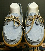 Men's Sperry Top-Sider Chambray Classic Boat Shoe-Loafer Sz 11M MINT - $25.12