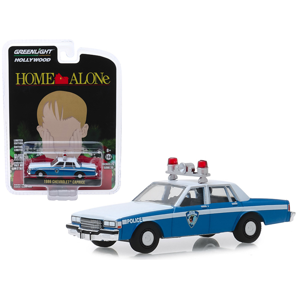 1986 Chevrolet Caprice Blue and White Wilmette, Illinois Police Home Alone (1990