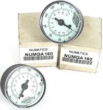 LOT OF 2 NIB NUMATICS NUMGA 160 GAUGES NUMGA160, 0-160 PSI, 0-11 BAR