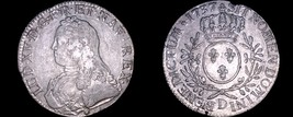 1737-D French Ecu World Silver Coin - France - Lyon - Louis XV - $279.99
