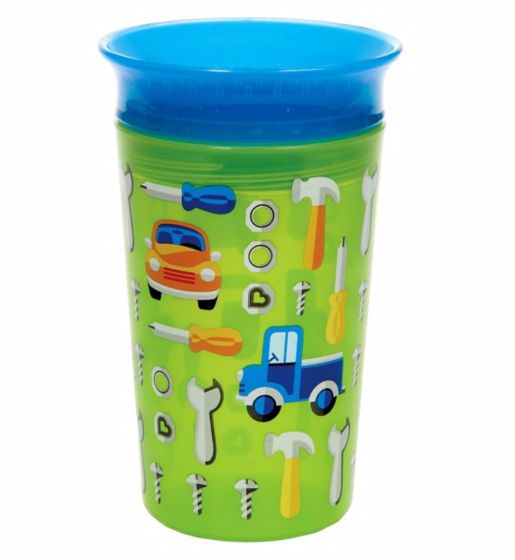 Munchkin 9oz Miracle 360° Deco Sippy Cup Green Car