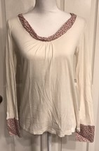 Anthropologie Tiny Brand Long Sleeve Top Size Small Used - $12.64