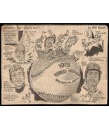 1975 World Series Red Sox Cartoon Newspaper Clipping Vintage Baseball Sk... - $14.99