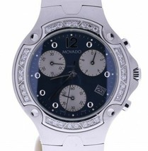 Movado Swiss Diamond Chronograph Quartz Watch 84C51892S - $1,153.75