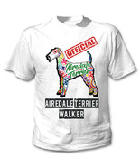 Airedale terrier - official walker c - NEW COTTON WHITE TSHIRT - $19.53