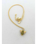 NWT Kate Spade Gold Plated Picnic Perfect Pave Bee Pendant Necklace O0RU... - $37.95