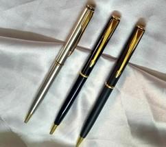 Lot of 3 pc Parker Insignia Ball Pen Black Matt Black And Steel - $90.86