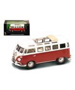 1962 Volkswagen Microbus Van Bus Red With Open Roof 1/43 Diecast Car by ... - $23.61