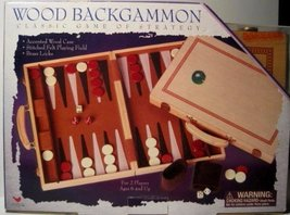 Backgammon Game, Wood, by Cardinal Industries - $33.66