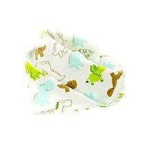 4Pcs Baby Neckerchief/Saliva Towel for Baby,Pure Cotton Adjustable,Dinosaur