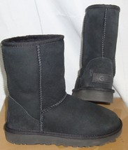UGG Classic Short II Water Resistant Black Boots Size US 6, EU 37 Style #1016223 - $98.99