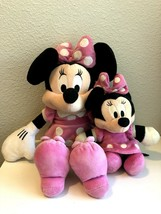 COMBO Disney Minnie Mouse Plush Doll 18 Inch and 12 inch Minnie Mouse - $20.00