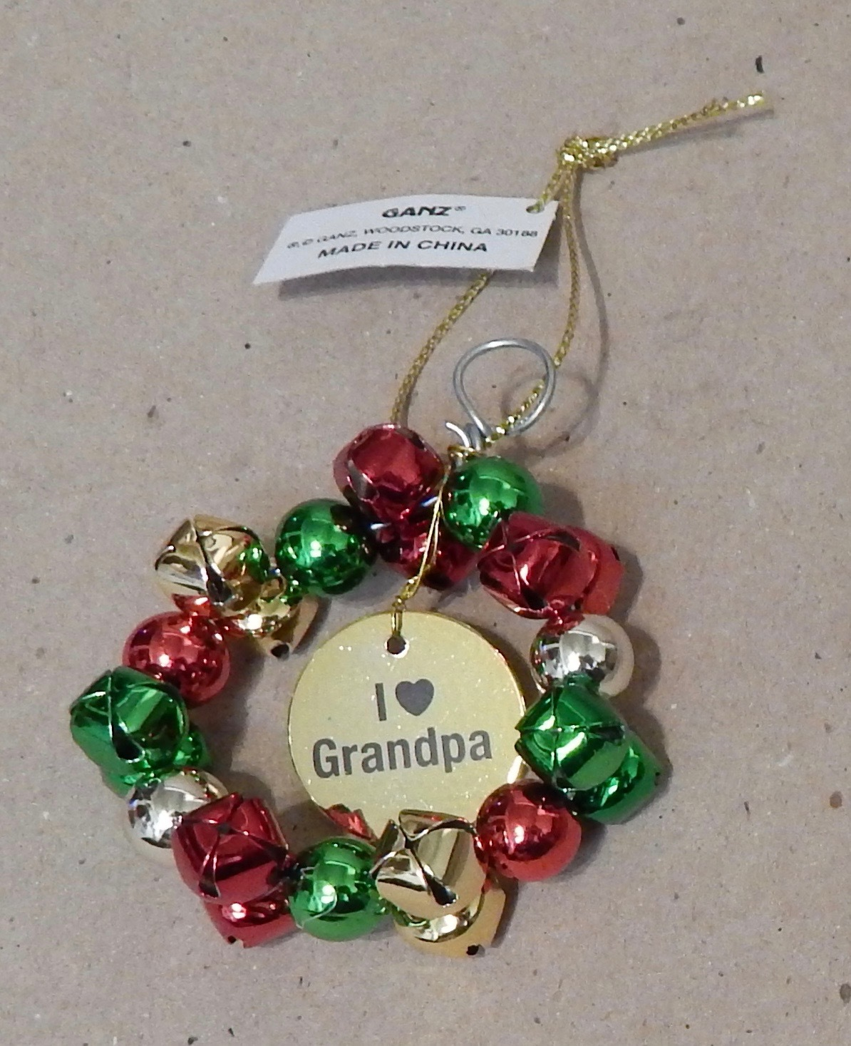 Ganz Ornament Silver To Grandpa with Love Home Decor,Multi-color