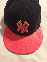 New York NY Yankees Hat New Era 59FIFTY Baseball Cap SNAPBACK Dark Gray ... - $15.93