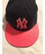 New York NY Yankees Hat New Era 59FIFTY Baseball Cap SNAPBACK Dark Gray ... - $15.93
