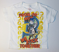 Toy Story 3 Toddler Boys T-Shirt We Stick Together Woody Buzz Size 2T NWT - $8.82