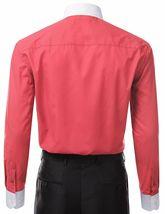 Berlioni Italy Men's Premium Classic White Collar & Cuffs Two Tone Dress Shirt image 10